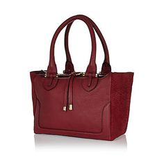 Red leather tote bag $150.00