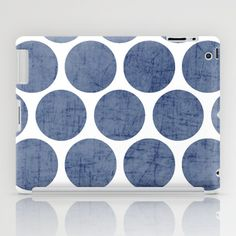 blue polka dots iPad Case by Her Art - $60.00