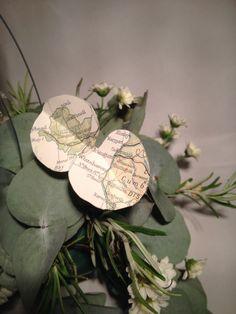 vintage map Eucalyptus leaves by Josephine Gomersall designs