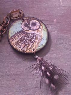 Vintage Poker Chip Necklace
