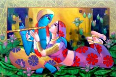MyIndianArt is one of the best place to buy exclusive Indian Art, sculpture, traditional art, etc. Indian Art Gallery, Indian Artwork, Indian Folk Art, Indian Art Paintings, Original Paintings, Krishna Painting, Krishna Art, Indian Contemporary Art, Flower Painting Canvas