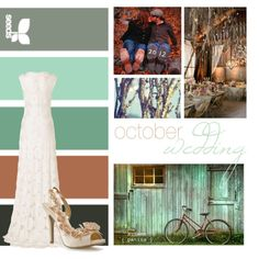 October Wedding- has some of the colors in there.. change that dark gray to navy blue and tone the orange to blush