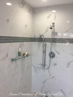 Bathroom Remodel - Dix Hills, NY 11746 - #stonecreationsoflongisland #bathrooms #kitchens #tile #stone - (631) 678-6896 Dix Hills, Deer Park, Remodels, Design Firms, Long Island, Kitchen Interior, Track Lighting, Landscape Design, Bathrooms