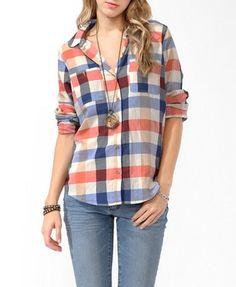 Herringbone Buffalo Plaid Shirt