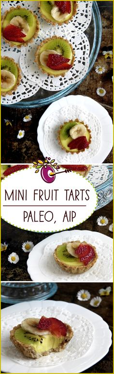 Mini Fruit Tarts - Paleo, AIP, Low Fodmap! Too good to be true. Gluten, Egg and Dairy Free, the pastry cream is made with coconut milk and gelatin. Click through, make it, share it, rate it - so pretty and a real treat.