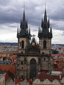Tynkerk Architect Mathias of arras Tsjechië praag