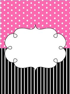 Pink and Black Binder Cover