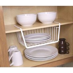 The Under the Shelf storage basket will maximize your available storage space in your closet or cabinet. The wire mesh basket simply slides onto a shelf that measures up to 3/4 inches thick. The heavy