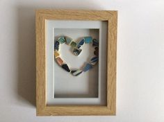 Beach pottery art love heart picture by ThreeLittlePirates on Etsy