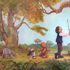 Star Wars and Winnie the Pooh -- so cute!