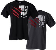 Chevy Runs Deep Ripped T-Shirt-Chevy Mall
