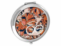 Espejo Metálico Naranja y Flores Cloe