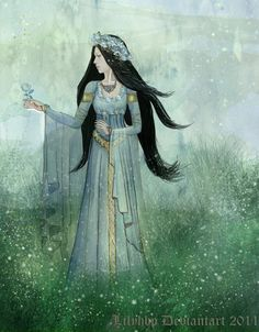 """Lyanna Stark, Queen of Love and Beauty by =VeronicaMartinez. """"Ned Stark reached out his hand to grasp the flowery crown, but beneath the pale blue petals the thorns lay hidden. He felt them clawing at his skin, sharp and cruel, saw the slow trickle of blood run down his fingers, and woke, trembling, in the dark."""""""