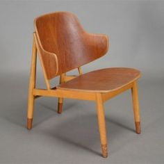 Ib Kofod Larsen Danish Modern Teak & Beech Easy Chair