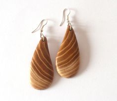 Wooden Earrings MulberryHandmade Wood by WoodArtJewelry on Etsy, $16.00