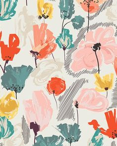 I don't want to sound like a grandma or anything, but I love these fabrics from Pat Bravo's Rapture Collection