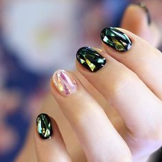 Shattered Glass Nails by unistella_by_ek_lab