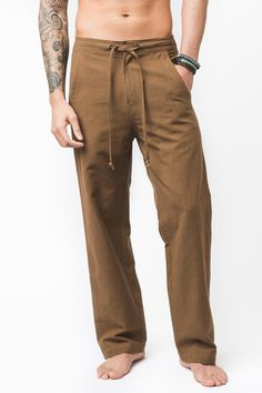 Nepali Hemp Pants from Earthbound Trading Co. #earthboundtrading #mensstyle #hemp