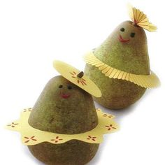 Dressed up pears