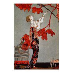 Vintage Art Deco Fashion Poster