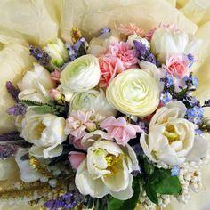 English Garden Bridal Bouquet Flowers by Tami's Design
