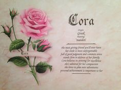 Cora First Name Meaning Art Print-Name by inspirationsbypam more designs available at www.etsy.com/shop/inspirationsbypam. Save 10% with code: Pinterest10 thru 12-31-16.