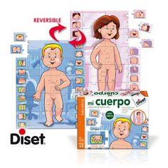 4 AÑOS_ PUZLE MI CUERPO Juego educativo para aprender las diferentes partes del cuerpo humano.