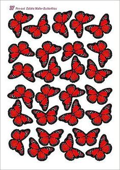 Edible Wafer Butterflies 27pcs 45mm Pre Cut Wafer Paper Cake Cupcake toppers