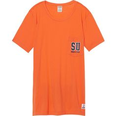 PINK Syracuse University Campus Short Sleeve Tee ($15) ❤ liked on Polyvore featuring black