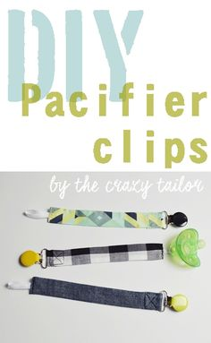 I've had one thumb-sucker and one paci-lover and so for this baby I'm getting prepared just in case he likes pacifiers. Pacifier Clip Tutorial, Sewing Tutorials, Sewing Projects, Thumb Sucker, Pacifiers, Just In Case, Diys, Learning, How To Make