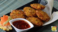 Fried Corn Cakes with Green Onions