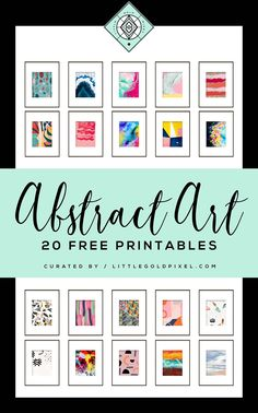 diy Art prints - 20 Free Abstract Art Printables for Your Gallery Walls • Little Gold Pixel Free Art Prints, Modern Art Prints, Modern Wall Art, Wall Art Prints, Cheap Wall Art, Diy Wall Art, Diy Art, Cheap Art, Wall Decor