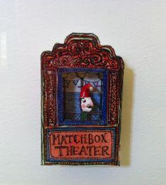 Matchbox art - Punch and Judy show