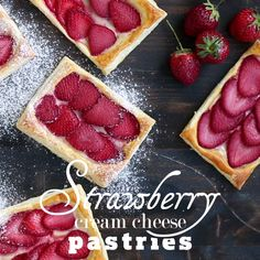 Whenever you are craving for something sweet, delicious but quick and easy to prepare you might consider these Strawberry Cream Cheese Pastries made with puff pastry.