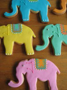 elephants by sugarlily cookie, via Flickr