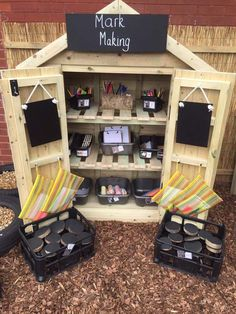 Outdoor Learning Spaces, Kids Outdoor Play, Outdoor Play Areas, Kids Play Area, Eyfs Outdoor Area Ideas, Outdoor Spaces, Preschool Playground, Preschool Garden, Playground Ideas