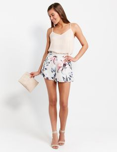 Graphic Drape Short | Dotti NZ