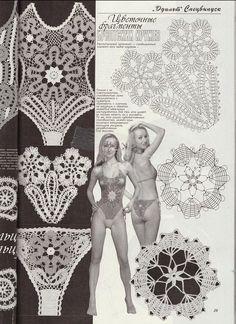 View album on Yandex. Crochet Lingerie, Bikinis Crochet, Beach Crochet, Crochet Bra, Crochet Bikini Pattern, Crochet Lace Edging, Irish Crochet, Crochet Clothes, Crochet Stitches Patterns