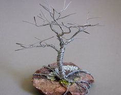 Sleeping Tree Wire Sculpture by Wire Wrapped Jewelry, Wire Jewelry, Wire Tree Sculpture, Wire Sculptures, Sculpture Ideas, Chicken Wire Art, Tree Of Life Jewelry, Metal Tree Wall Art, Wire Trees