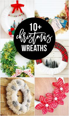 Christmas Wreaths to inspire your holiday crafting! From yarn to sewing notions to faux boxwood, I'm certain you leave disappointed. Candy Wreath, Diy Wreath, Christmas Wreaths, Christmas Crafts, Christmas Decorations, Christmas Ideas, Projects For Kids, Crafts For Kids, Diy Projects