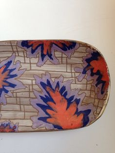 Purple Ladder Blooms Tray by GracieLoveCeramics on Etsy