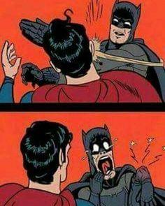 He broke His Hand trying to slap Superman XD #dcuniverse52 #dccomics #dcuniverse #dcheroes #batman #superman #thedarkknight #manofsteel #justiceleaguememes #batmanmemes #supermanmemes #batmanvsuperman #justiceleague #classic #dcmemes #lol #memes #dc