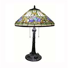 Warehouse of Tiffany DY183285TL 2 Light TiffanyStyle Table Lamp, Bronze