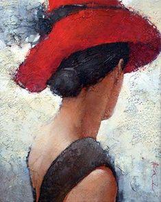 Painting People, Woman Painting, Painting & Drawing, Pinturas Art Deco, Pastel Drawing, People Art, Portrait Art, Face Art, Figurative Art