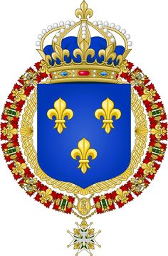 Grand Royal Coat of Arms of the Kingdom of France