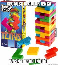Tetris Jenga - 9GAG