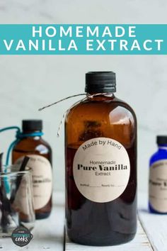 Making your own Vanilla Extract Recipe is so simple and makes the best handmade gift. When making vanilla extract, you can use vodka, bourbon, or your favorite spirit of choice. If you have a pressure cooker, I'll even teach you to make Instant Pot vanilla extract. This is the best vanilla extract you'll ever try! Free printable bottle labels. #vanillaextract #handmadegifts #instantpot