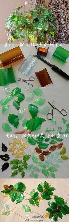 Esse trabalho é bem detalhista,mas o resultado é lindo!! eu amo reciclagem com garrafa PET.   DICA: use garrafas de cores diferentes, ex:...                                                                                                                                                                                 Mais