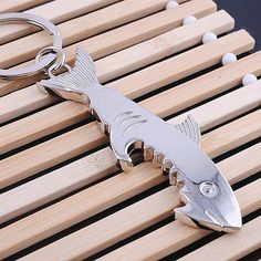 New Shark Beer Bottle Opener Keychain Multifunction Corkscrew Metal Key Chains Souvenirs Gift High Quality - UrbanLifeShop