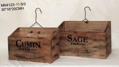 Rustic Country Villa Storage Drawers Herb Boxes - Living Wall Art